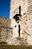 Tower with portal and balcony Royalty Free Stock Images