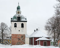 Tower of the Porvoo Cathedral, Finland Royalty Free Stock Image