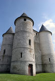 Tower power. Three old castle towers stock photos
