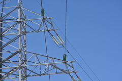 Tower power lines. Royalty Free Stock Photography