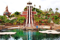 The Tower of Power water attraction in Siam Stock Photography