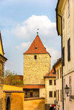 Tower in Prague Castle Royalty Free Stock Photography