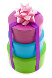 Tower of presents Royalty Free Stock Photos