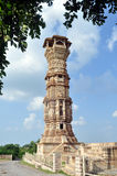 Tower of prestige. Tower inside chittorgarh fort in rajasthan India Stock Images