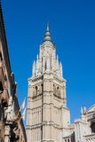 A tower of the Primate Cathedral of Saint Mary of Toledo Royalty Free Stock Photos