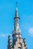 Tower of the Provincial Court in Bruges, Belgium stock images