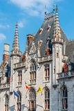 Tower of the Provincial Court in Bruges, Belgium royalty free stock photo