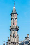 Tower of the Provincial Court in Bruges, Belgium stock photography