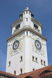 Tower of public bath in Munich Royalty Free Stock Photos