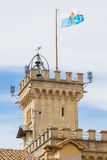 Tower of the Public Palace of San Marino.Republic of San Marino. Stock Images