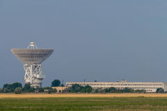 Tower with radar communication system Stock Photo