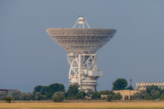 Tower with radar communication system. Radio communication system with outer space stock photography