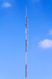 Tower for radio antenna Stock Photos