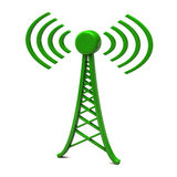 Tower with radio waves Stock Image