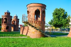 Tower from a red brick Stock Photography