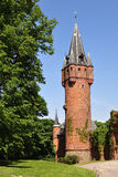 Tower of Red castle in Hradec nad Moravici. Beautiful Red castle Hradec nad Moravici in nothern part of Czech republic stock photography