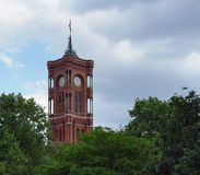 Tower of the Red Town Hall Stock Images