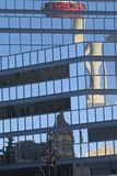 Tower Reflection. Calgary tower reflected in another building Royalty Free Stock Image