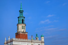 The tower of the Renaissance town hall Stock Photography