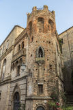 Tower on residential building Italy Royalty Free Stock Images