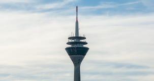 The tower Rheinturm of Dusseldorf in Germany Stock Image