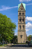 Tower of Rochuskirche, Dusseldorf, Germany Stock Photo