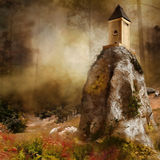 Tower on a rock Royalty Free Stock Photo