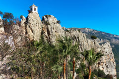 Tower on a rock of Guadalest. Spain Stock Photo