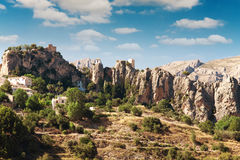 Tower on rocks in province of Alicante Royalty Free Stock Image