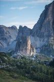 Tower of rocks at sunrise, Dolomites, Veneto, Italy Stock Photography