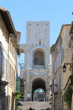 Tower of Roman amphitheatre in Arles, France Stock Images