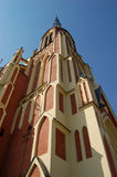 Tower of Roman catholic church Stock Photos