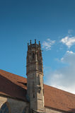 Tower on roof of old building. Royalty Free Stock Photography