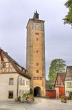 Tower of Rothenburg ob der Tauber, Germany Stock Photo