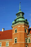 Tower of the Royal Palace in Warsaw Royalty Free Stock Photography