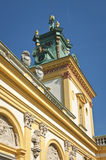 Tower of Royal residence in Wilanow Stock Photo