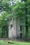 Tower Ruin. Ruin of the Tower of the old monastery in the Odenwald Forest in Hesse, Germany stock photos