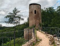 Tower of ruin castle Cimburk in Moravia Royalty Free Stock Images