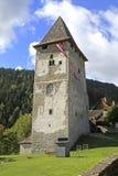 Tower ruin. Of Castle Petersberg in Friesach, Austria Stock Images