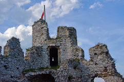 Tower of the ruined castle Stock Images