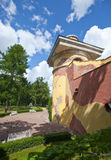 Tower - ruins. Catherine Park. Pushkin (Tsarskoye Selo). Petersburg. Stock Image