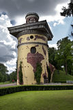 Tower - ruins. Catherine Park. Pushkin (Tsarskoye Selo). Petersburg. Stock Photos
