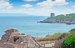 Tower and ruins Royalty Free Stock Photography