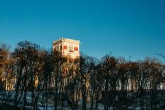 Tower of Rumyantsev-Paskevich Palace in Gomel Royalty Free Stock Image