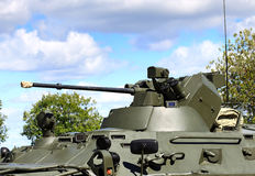 Tower of the russian armored personnel carrier BTR 90 with armam Stock Image