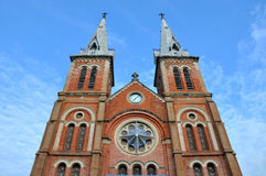 Tower of Saigon Catholic church in VietNam Stock Images
