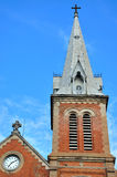 Tower of Saigon church under blue sky, VietNam Royalty Free Stock Image
