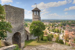 Tower of Saint-Hyppolyte over Cremieu Royalty Free Stock Images