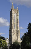 Tower Saint Jacques from Paris in France Royalty Free Stock Photos