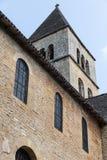 Tower of Saint-Léon-sur-Vezere's Church. Tower on the church in Saint-Léon-sur-Vezere stock photography